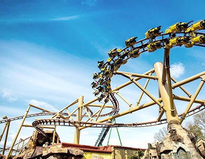 yellow-rollercoaster-blue-sky