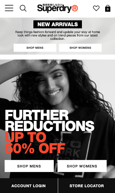 superdry homepage