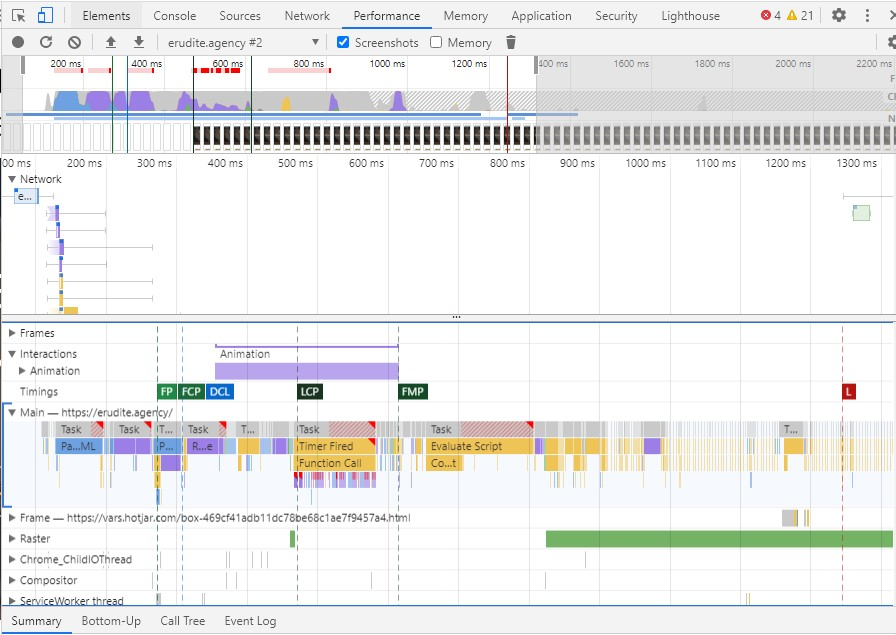 Example of DevTools Console