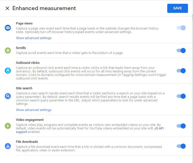 GA4  Enhanced Measurement