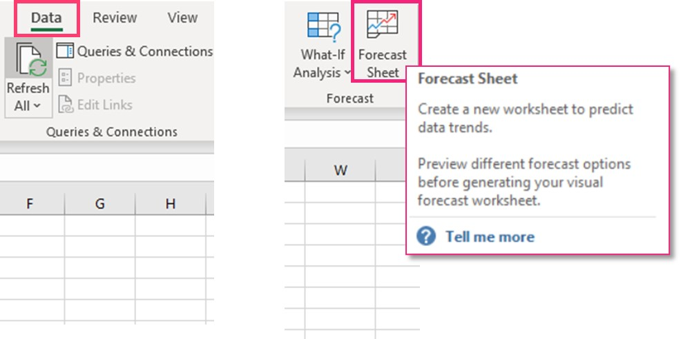 Excel Forecast Sheet Function